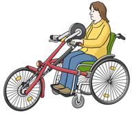 Rollstuhlfahrrad