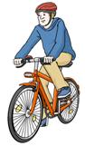 Person auf dem Fahrrad