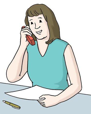 Person telefoniert